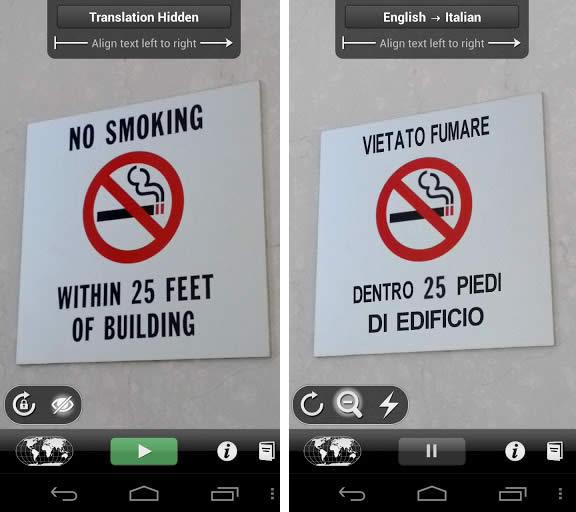 No smoking segnale tradotto eng-ita
